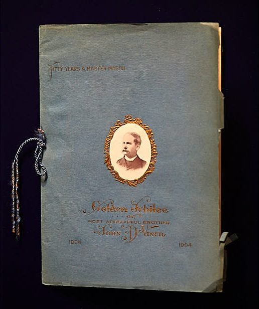Small bound book with a blue cover